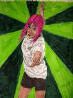 Pink-Haired Girl by fifthdimensional