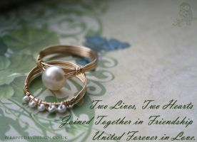 Pearl Rings Together by WrappedbyDesign