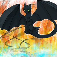 Toothless fanart by Diamondfeathers