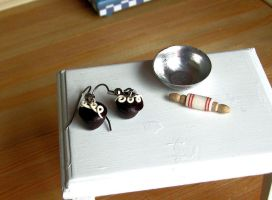 Hostess Cupcake earrings by Miss-Millificent