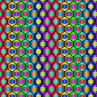 Colored Hexagon Pattern by Humble-Novice