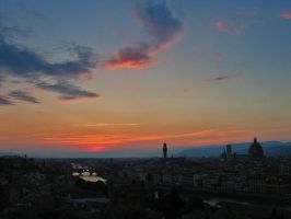 Florence Sunset No2 by Andrew-and-Seven