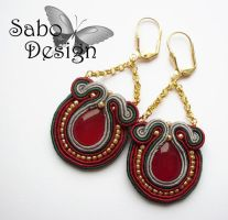PRINCESS JASMINE - soutache earrings by SamanthaBossy