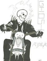 Ghost Rider Comission by Leon-Fuego