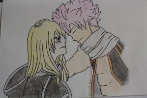 Lucy Heartfilia and Natsu Dragneel - Fairy Tail by carolinamgfidalgo