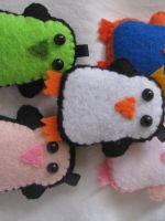 Penguin Plush Pile by P-isfor-Plushes