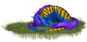 Sleeping furball by DraconianArtLine