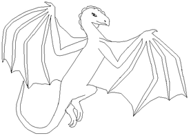 dragon lineart 'request' by michy123