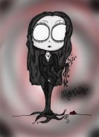 Morticia Addams. by Reekaann