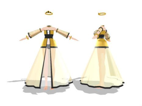 MMD Princess Gown Download by SachiShirakawa