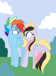 Rainbow Blitz And Blonde by ArtistRarity