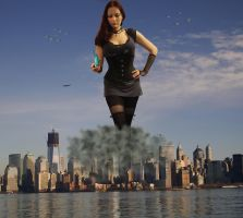 Goddess Amarie in New York by pedro1232
