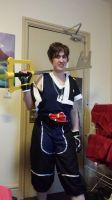 Me with my giant Keyblade by nikkithestormtrooper