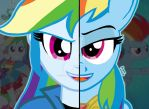 My Little Pony FIM Duality: Rainbow Dash by OptimumBuster
