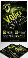 Vodka Shots Flyer Template PSD by MadFatSkillz