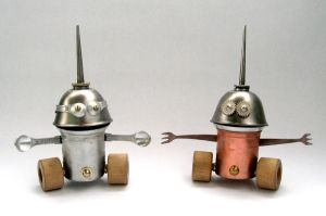 Reef and Hal- Robot Sculptures by adoptabot