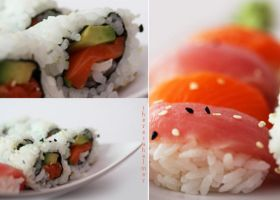 Homemade Seafood Sushi by theresahelmer