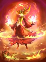 Delphox- Fennekin final evolution by KeiNhanGia