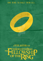 Lord Of The Rings: FOTR (2001) - Minimalist Poster by Stormy94