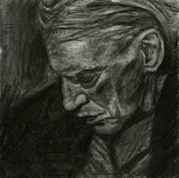 Charcoal Old Man by SubliminAlex