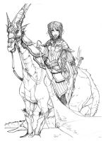 Alodia riding Mondragon by Rayeskie27