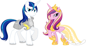 Princess Cadence and Shining Armor by Angelicsweetheart