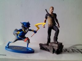 Sly Cooper and Cole MacGrath by Cruisn
