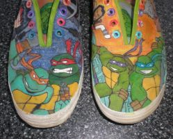 TMNT shoes by sezlarscraps