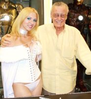 Emma Frost and Stan Lee by TheOriginalAKTREZ