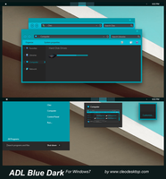 ADL Blue Dark for Windows 7 by Cleodesktop