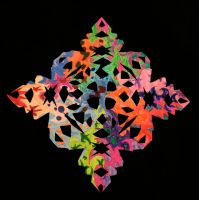 Psychedelic Snowflake by likesinkingships