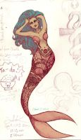 Cotton Candy Cali Mermaid by idaSouth