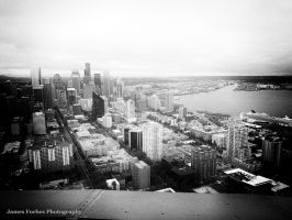 Seattle Skyline from Space Needle by JForbes1701