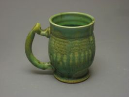 Mug with Tarnished Copper Glaze by pedersonpottery