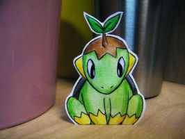 Paper Turtwig by pettyartist