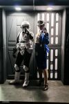 TARDIS and clonetrooper by Ulkerei