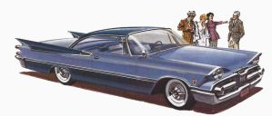 age of chrome and fins : 1959 Dodge by Peterhoff3