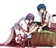 Mephisto and Rin by shaolinfeilong
