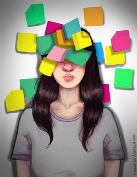 Post it head [SPEEDPAINT ON YT] by AndyMuffinm