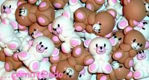 Polymer clay little bears by cernittando