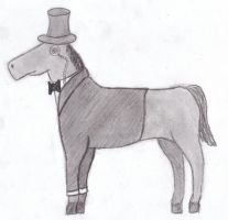Horse in Tux by Yo-yoMaster