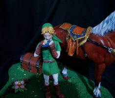 Ocarina Link painted IV by vrlovecats