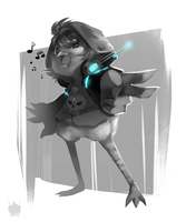 Azure Chicken by chickenoverlord
