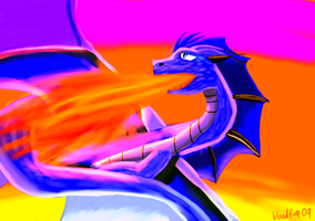 Evaelisa's Dragon by Bloodfire09