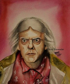 Christopher Lloyd [Dr. Emmett L Brown] by XkrkX