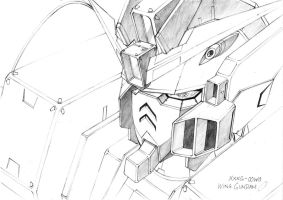 XXXG-00W0 Wing Gundam Zero by Fearless87