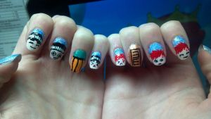 Gaara and Lee Nails 2 by ouiouiouwha
