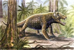 Anteosaurus by WillemSvdMerwe