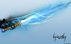 brisingr - flaming sword by marofi