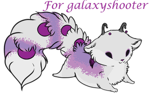 crystallus cauda custom Cub for galaxyshooter by Vexlovely